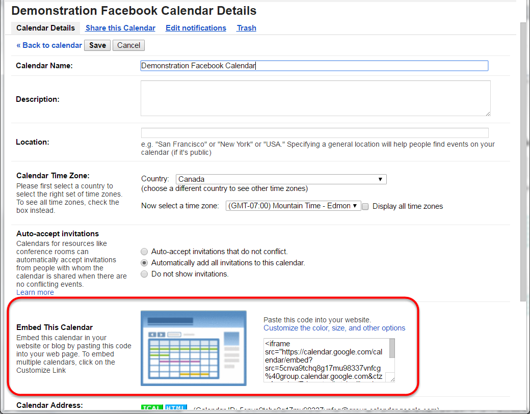 Add a Google Calendar to a Facebook Page | WebGenii